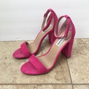 Steve Madden Carrson Hot Pink Block Heels
